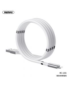 REMAX cable USB for iPhone Lightning 8-pin Magnetic-storing 2,1A RC-125i white