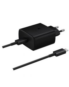 Original Wall Charger Samsung Fast Charger EP-TA845XBEGWW USB Typ C 3A 45W black blister