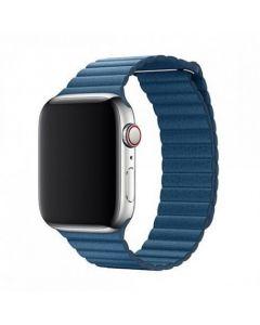 Devia Elegant Leather Loop(44mm) - Cape Cod Blue