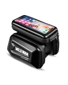 Bicycle holder / front beam bag with touch screen with zipper WILDMAN E6S 1,2L 4 - 7