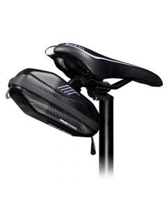 Bicycle holder / hard case rear end bag with zipper WILDMAN E7S 0,8L