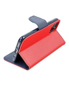 Fancy Book case for SAMSUNG S21 FE red / navy