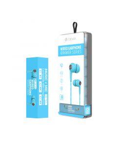 DEVIA Idrawer series wired earphone (8PCS/Set) - blue
