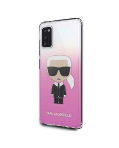 Original faceplate case KARL LAGERFELD KLHCA41TRDFKPI for Samsung A41 różowy