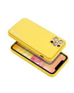 Forcell LEATHER Case for SAMSUNG Galaxy A02S yellow