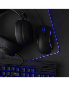 Gaming mousepad 320x270x3mm / black / LED RGB 10 Modes