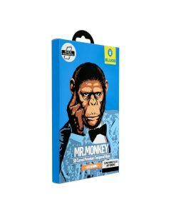 3D Mr. Monkey Glass - Samsung Galaxy NOTE 8 black (Hot Bending)