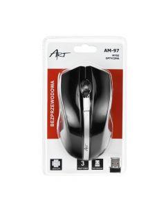 Art Optical wireless mouse USB AM-97 black