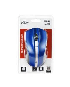 Art Optical wireless mouse USB AM-97 blue