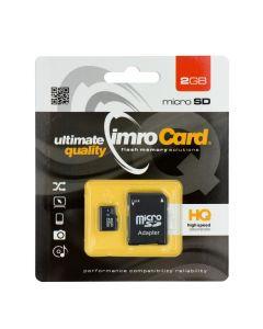 Memory Card Imro microSD 2GB with adapter