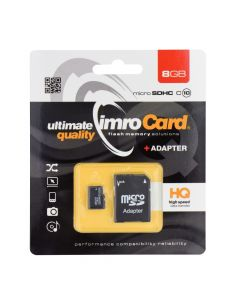 Memory Card Imro microSD 8GB with adapter / Class 10 UHS