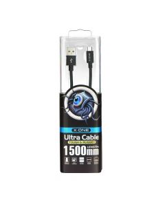USB data cable X-ONE - micro USB - black