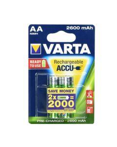 Rechargeable battery Varta R6 2600 mAh (AA) 2 pz Professional ready