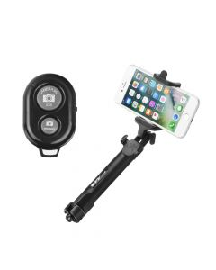 Combo selfie stick with tripod and remote control bluetooth black [For Him]