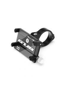 Bike holder GUB G81 Aluminium black for mobile phone