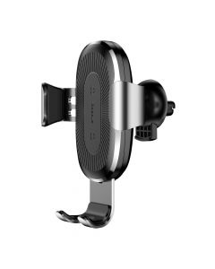 BASEUS car holder Wireless Charger Gravity Car Mount 10W Silver WXYL-0S