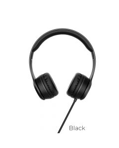 HOCO headphones W21 Graceful charm wire control black