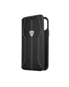 Original Book Case Carbon Lamborghini Huracan-D1 LB-TPUFCIP11-HU/D1-BK iPhone 11 Pro black
