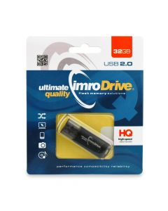 Portable Memory Pendrive Imro Black 32 GB