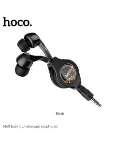 HOCO eaphones Easy clip telescopic M68 black