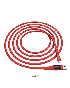 HOCO SELECTED Sentinel charging data cable with timing display Micro USB S6 red