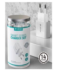 DEVIA charger set  (14 PCS)